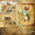 Vintage Cats by oldhippieart