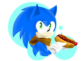 Sonic and his chilly dog :v by ValeriaGL92