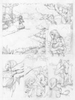 Song for Straygo pg.1 pencils by Black-Black