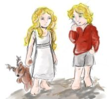 Doodle: Cersei and Jaime by AdharaPhoenix