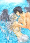 Underwater Love - commission for LunaMikogami by m-u-ll-e