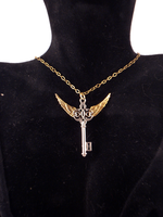 Winged Key necklace - Silver by twin-blades