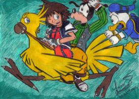 Chocobo Riding Madness by TipsyMcBoozerton