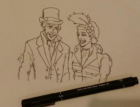 The Doctor and Bill sketch by Jasontodd1fan