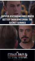 Kingsman greater than Jupiter Ascending by onyxcarmine