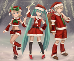 Vocaloid Christmas Edition by novcel