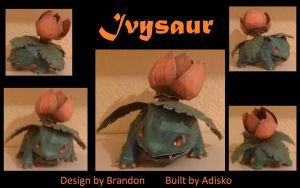 Paper Pokemon Ivysaur by Adisko