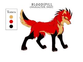 Character Sheet13 - Bloodspill by KayFedewa