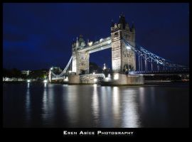 Tower Bridge at Night by erenabice