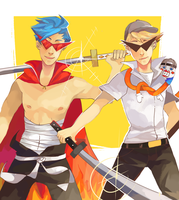 Bro strider and kamina - hs crossover gurren lagan by LaWeyD
