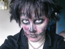 Zombie Makeup Experiment 2 by Vashthestampede9166