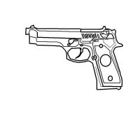 Berreta 9mm Line Art by GmodMike