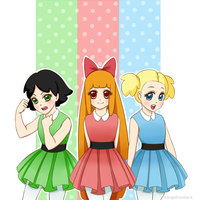 Powerpuff Girls by XAngelFeatherX