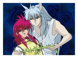 Kurama and Kurama by Lesleigh63