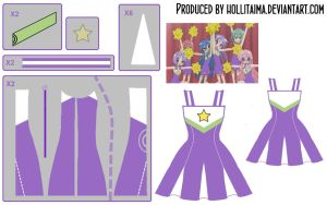 Lucky Star Cheerleading Cosplay Design Draft by Hollitaima