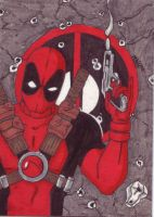 Deadpool Sketch Card by MannyHernan