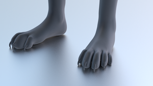 Humanoid cat feet by abnorml29