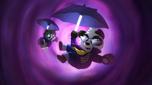 Funky Panda youtube art - September 2015 by petirep