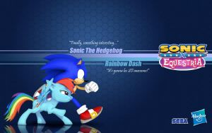 Sonic X Equestria: Sonic and R. Dash by Fuzon-S