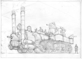 Prussian war loco WIP by JanBoruta