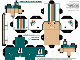 Ryan Tannehill Dolphins Cubee by etchings13
