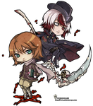 ::chibi arttrade for ianuae:: by rann-poisoncage