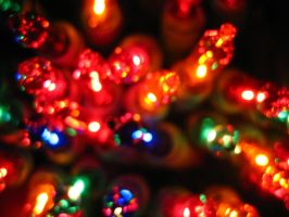 Christmas Tree Lights 4 by Holly6669666