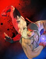 Street fighter X Tekken by molee