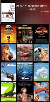 Top 16 favorite movies by thearist2013