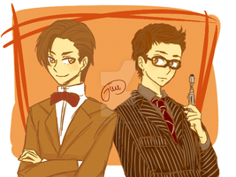 10th and 11th Doctor by raeucherlachs