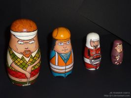 Nesting dolls family - face by JR-T