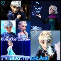 Winter Love: Jack Frost-X-Elsa by MakorraLove12