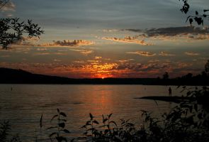 August Sundown at the Lake by indigohippie