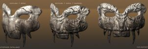FEAR - Tribal War Mask by weaponry-guild