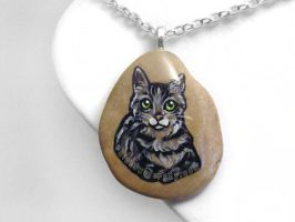 Tabby Cat Pendant Necklace by sobeyondthis