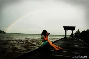 captured a rainbow. by artistiksyurgaloka