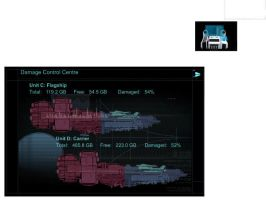 rainmeter Dead Space ship damage control HDD meter by louiezzz