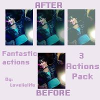 Fantastic actions - 3 actions by lovelielife