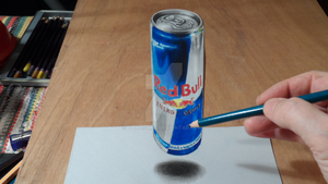 3D Drawing RedBull by VamosArt