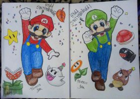 :Bday cards for my twin brothers: by IdaBlack