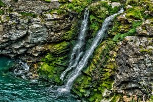 The waterfall at Tintagel by forgottenson1