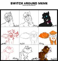Switch Around Meme (With Misty and Paint) by JewelyCat
