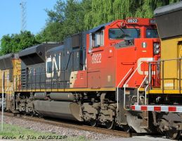 Brand New CN SD70M2 8922 on power move by EternalFlame1891