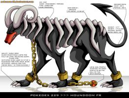 Pokedex 229 - Houndoom FR by Pokemon-FR