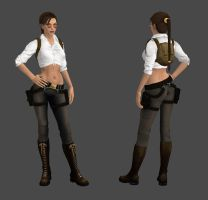 Lara Croft Archaeologist Pants Outfit by spuros12 by spuros12