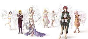 Angels of Virtue by shikadeidara