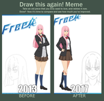 meme : before and after by HatakeShion