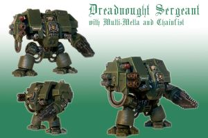 Dreadnought Sergeant with MultiMelta and Chainfist by Pip-Faz