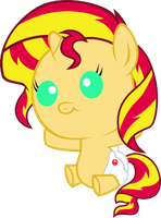 Sunset Shimmer Foal by RockinT765