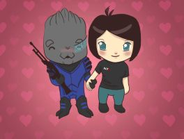 Garrus Loves Shepard by secondrateemily
